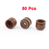 50 Pcs 4.8mm Top Inner Dia Rubber Valve Stem Oil Seal Brown for Motorbike