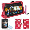 Dots Stand Case Smart Cover Red + Film + Dust for Google Nexus7 2nd Gen 7""