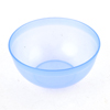 "Ladies Blue Clear Round Plastic Mask Bowl Beauty Tool 4"" Dia"
