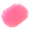 Double Sides Body Legs Arms Relaxing Massage Brush Pink Clear