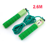 Green Antislip Handle Resettable Counter Jumping Rope 2.6m 8.5Ft