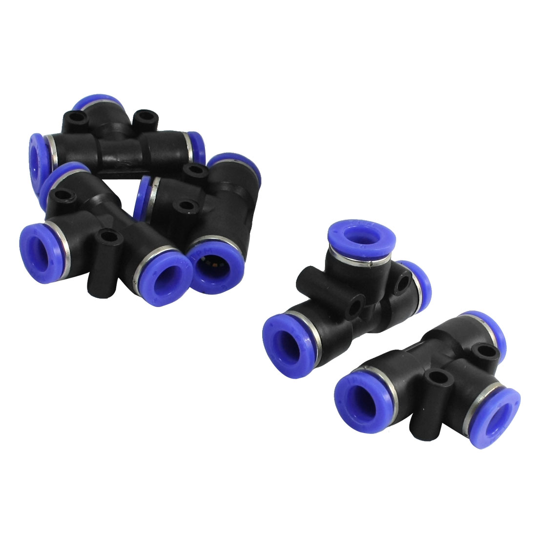 5pcs T Style Pneumatic One Touch Fittings Quick Connectors 8mm to 8mm