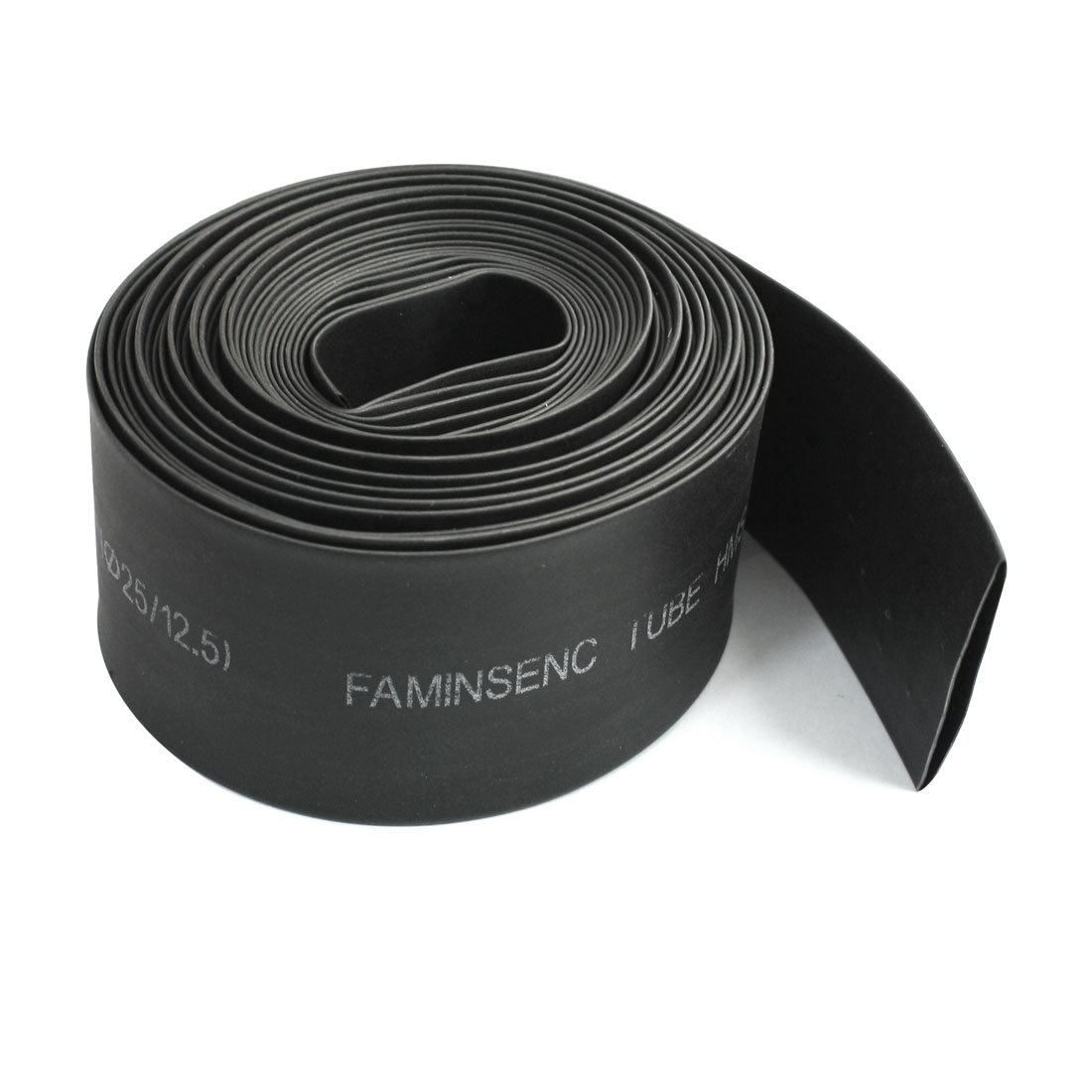 600V 125C 10M 25mm 12.5mm Black Insulated Cover Heating Shrinkable Tube