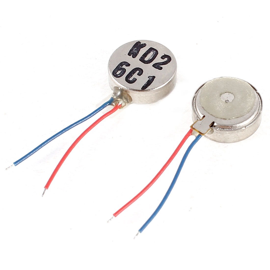 3V DC 2 Leads 10mm x 3.5mm Coin Mobile Phone Vibration Motor Repair Parts 2 Pcs