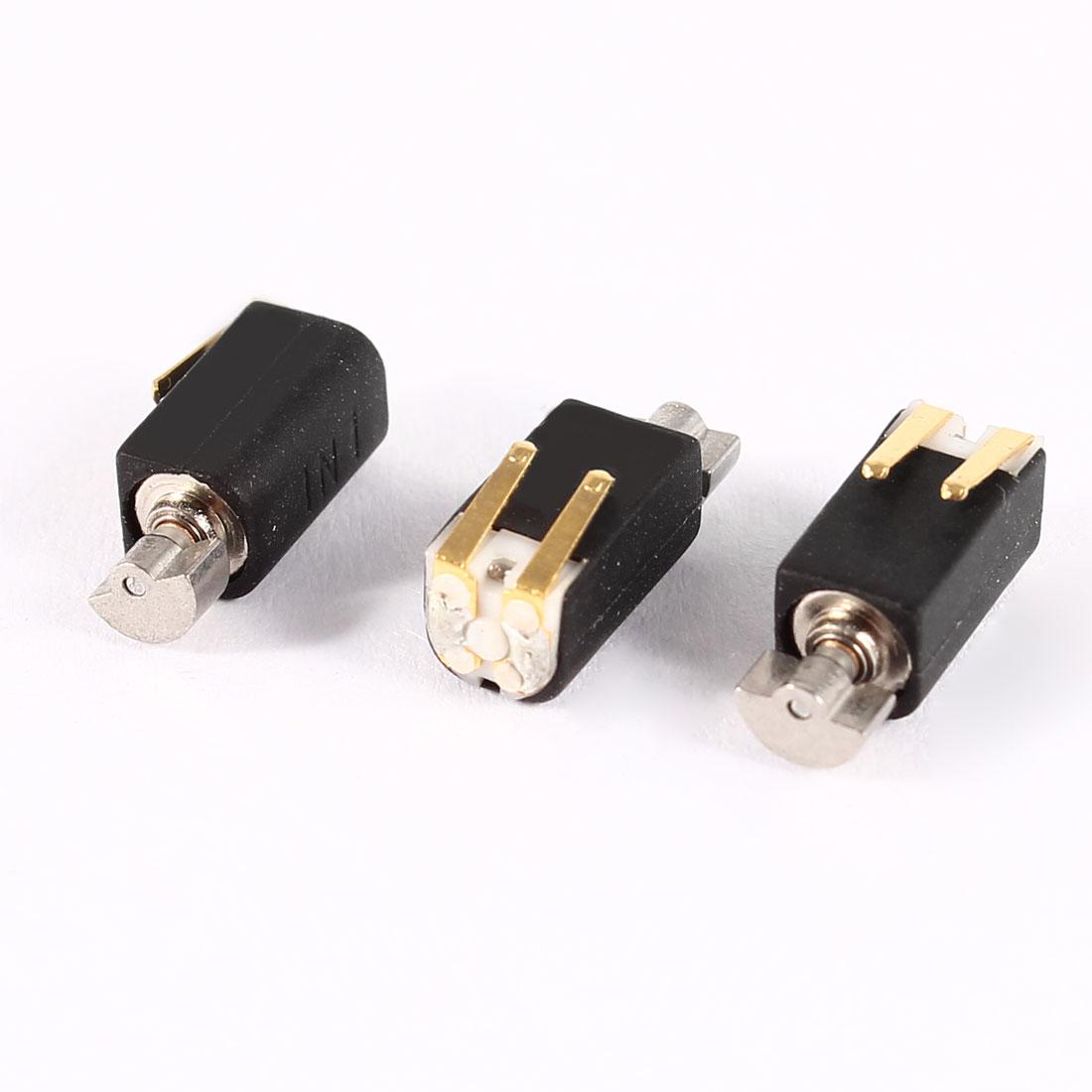4.4mm x 4.4mm x 8.2mm Black Electric 2000RPM Speed Vibration Motor DC3V 3 Pcs