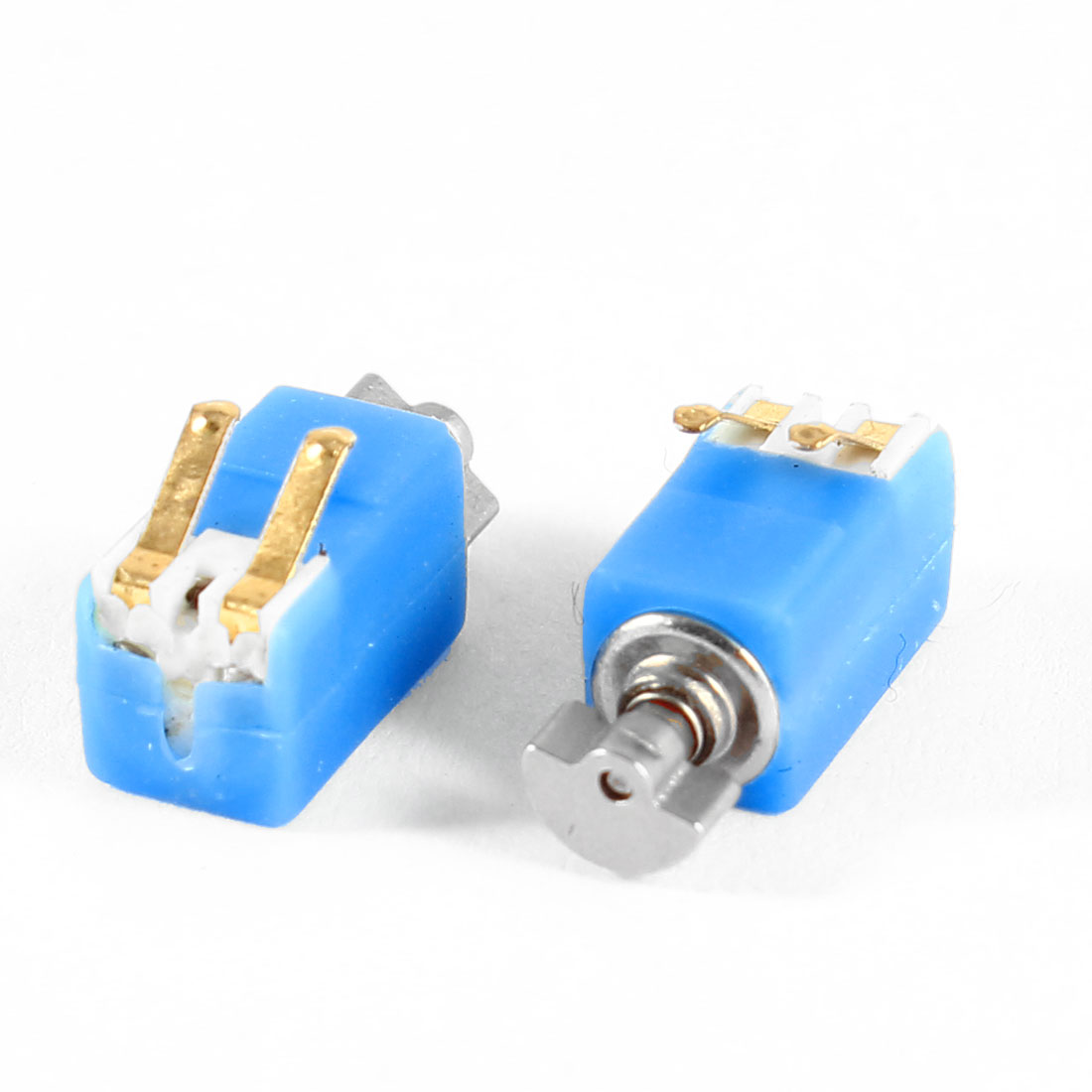 4.6mm x 4.8mm x 8.2mm Blue DC 3V 2000RPM Mini Micro Vibration Motor 2 Pcs
