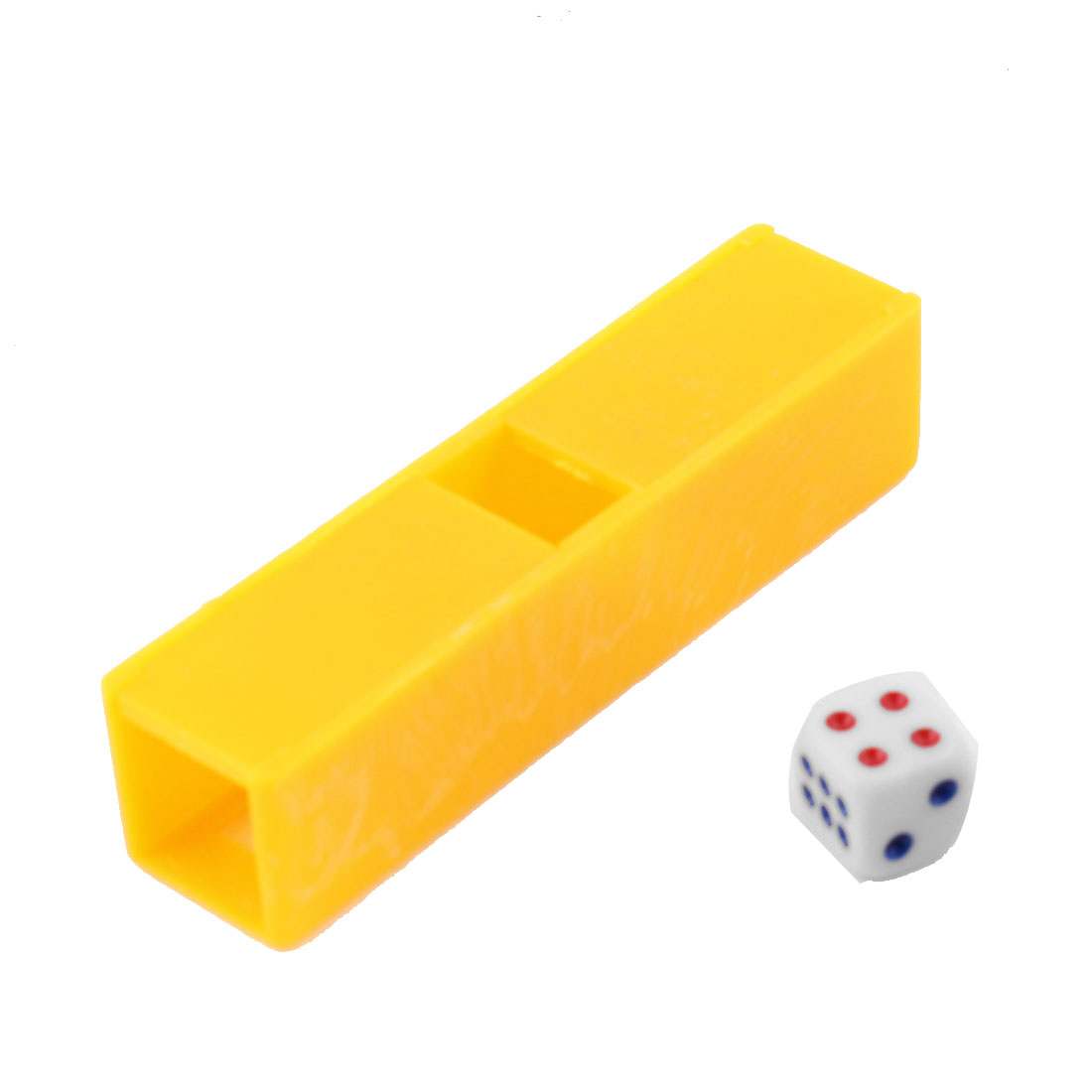 Party Magic Props Plastic Dice Tunnel Box Trick Tool Yellow