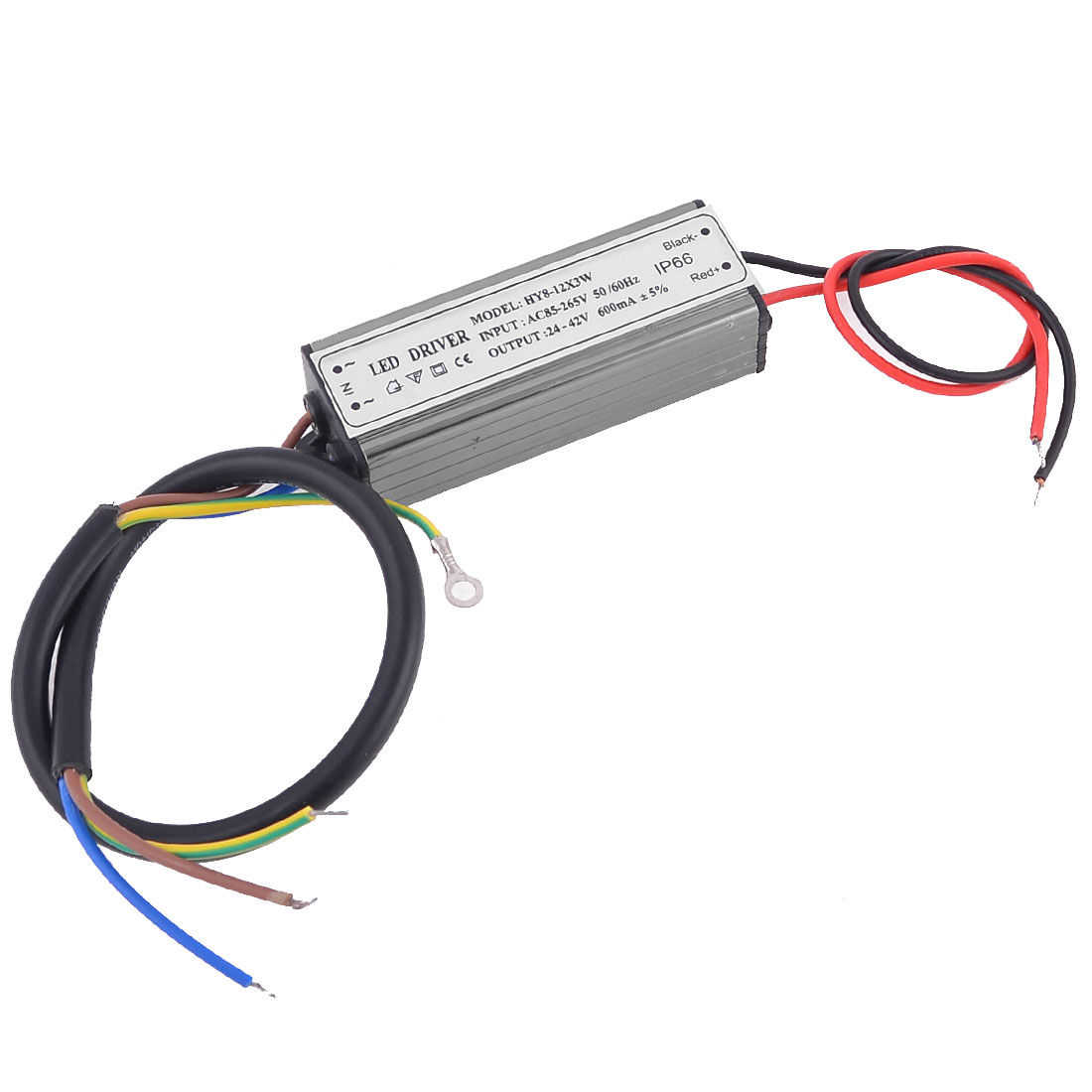 AC85-265V DC 25-40V 600mA 8-12x3W LED Driver Power Supply Converter