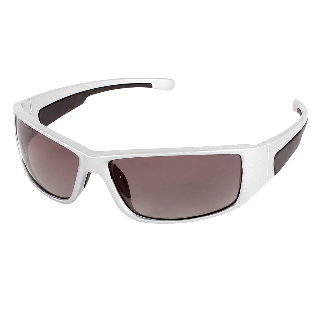 Unisex Outdoors Silver Tone Frame Brown Lens Polarized Sunglasses