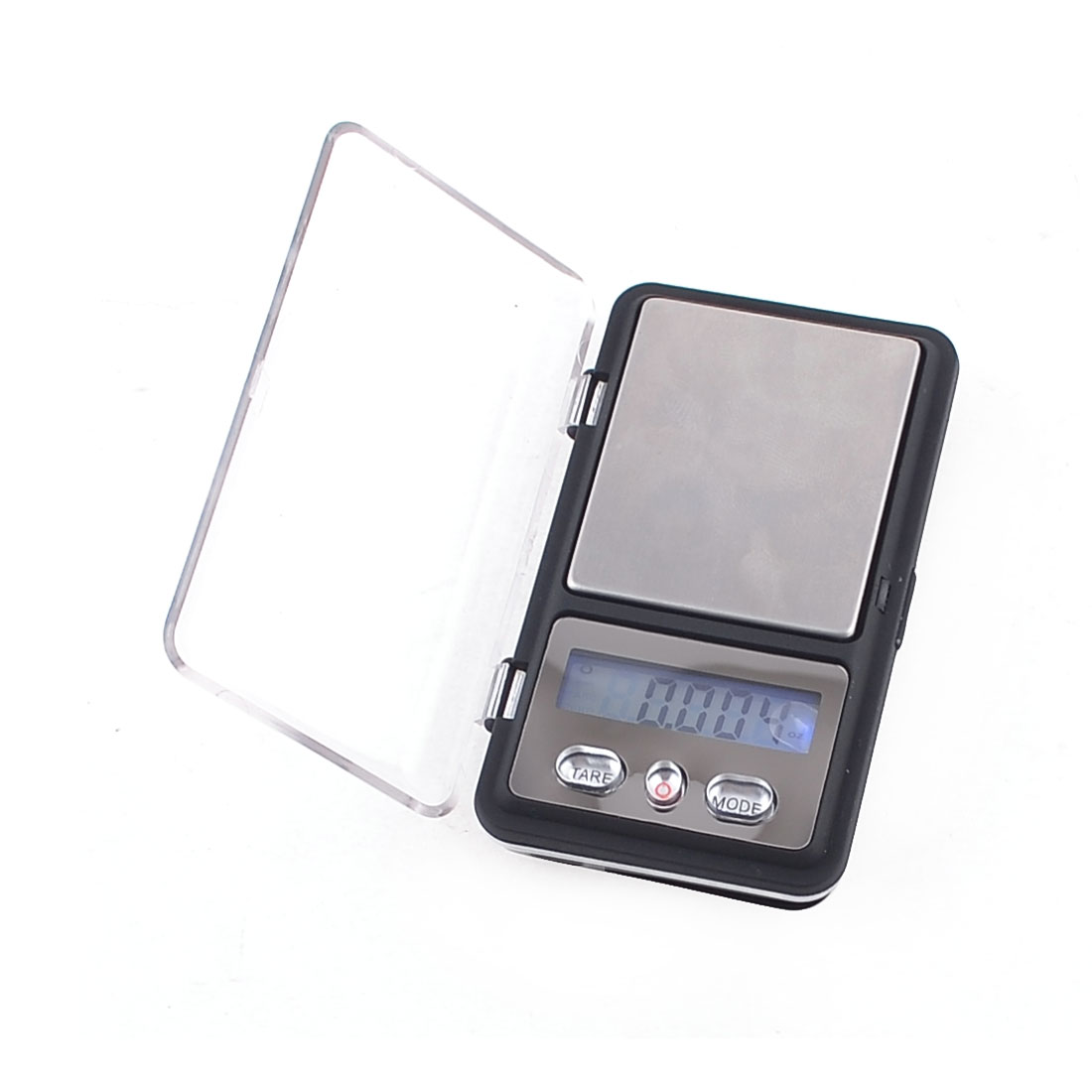 Kitchen Clear Plastic Cover 100g x 0.01g LCD Digital Display Mini Scale