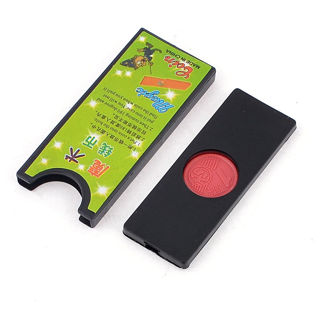 Black Red Comedian Stage Magic Trick Coin Tunnel Props Toy