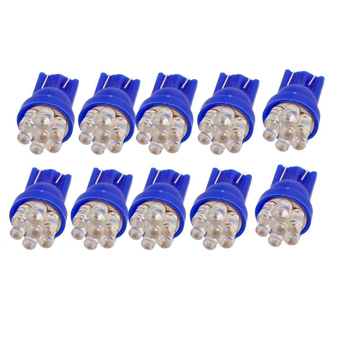 T10 158 168 194 W5W Blue 7 LEDs Car Lights Dashboard Lamps Bulbs 10PCS internal