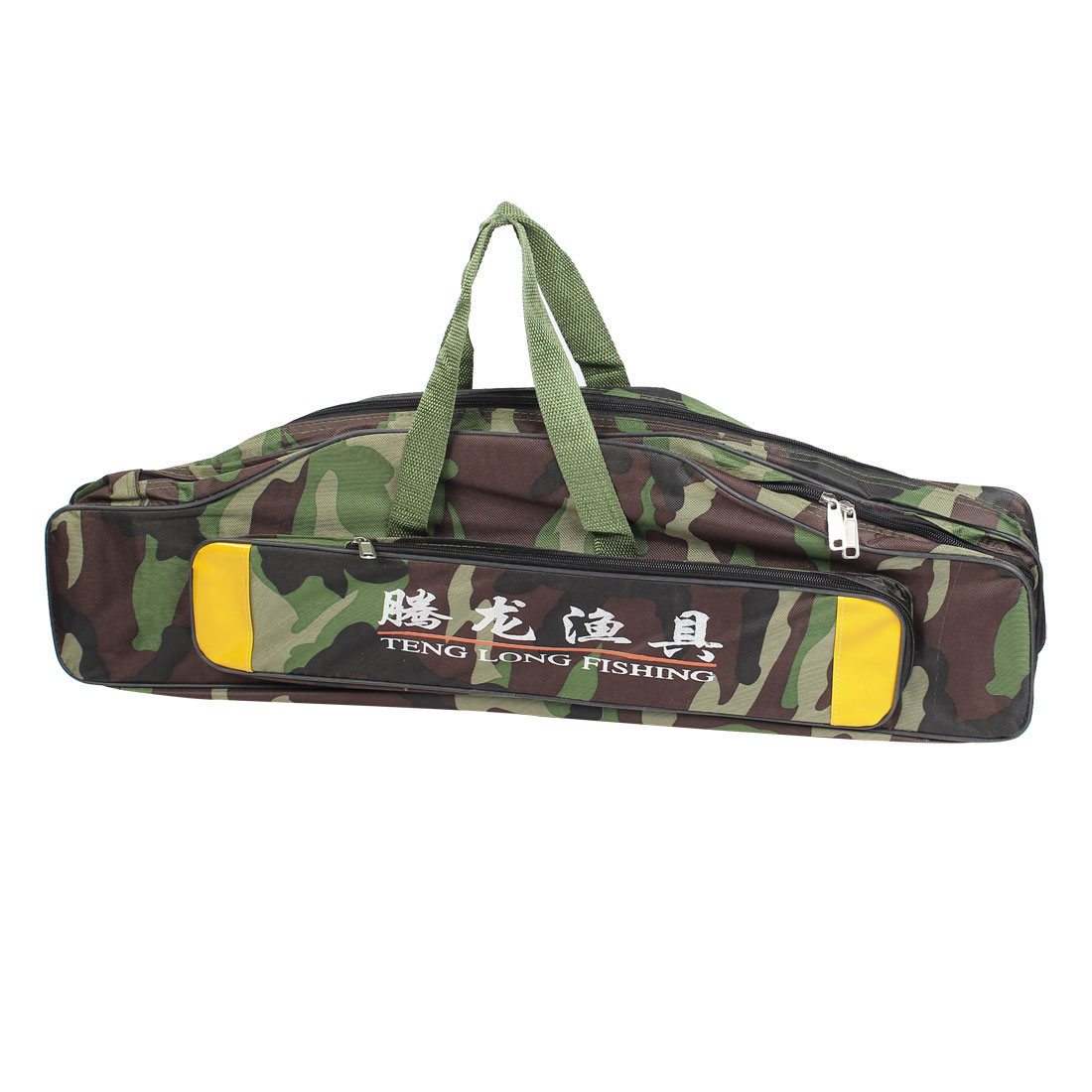 71cm Long 3 Compartments Zipped Camouflage Fishing Rod Fish Pole Carry Bag