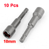 10 Pcs 65mm Length Magnetic Power 10mm Hex Socket Nut Setters Driver Bits