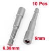 10 Pcs 65mm Length Magnetic Power 5mm Hex Socket Nut Setters Driver Bits