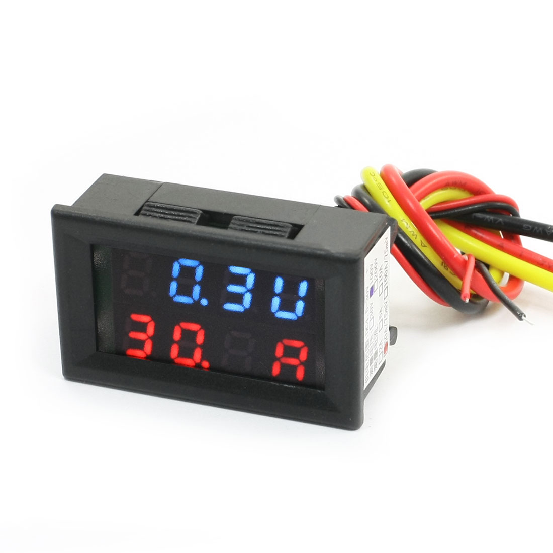 Red Blue LED Display Voltmeter Ammeter 0-100V 50A/75mV Volt Measuring