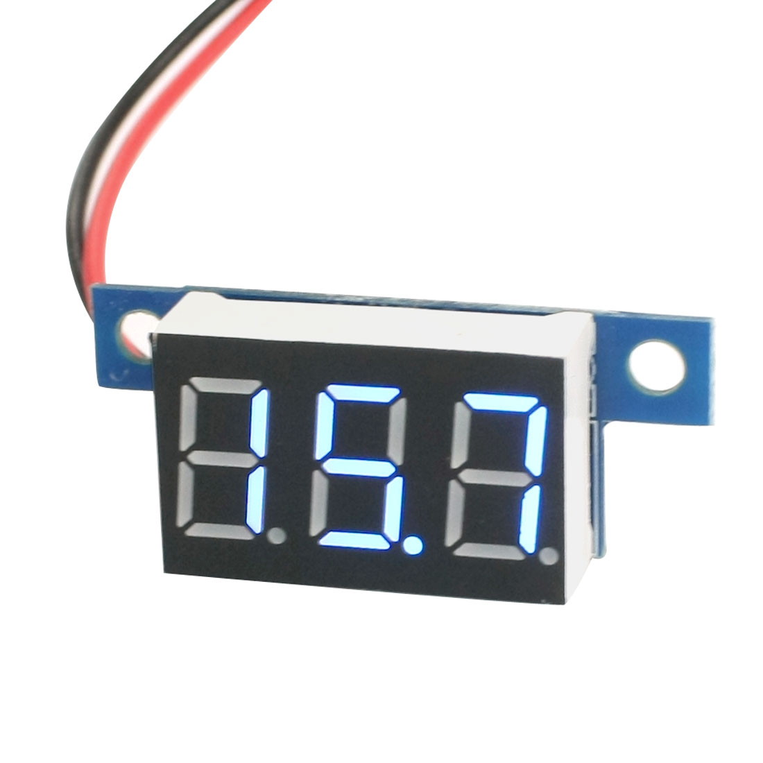 DC3-17V Blue LED Display Digital Voltmeter Panel Volt Meter Gauge
