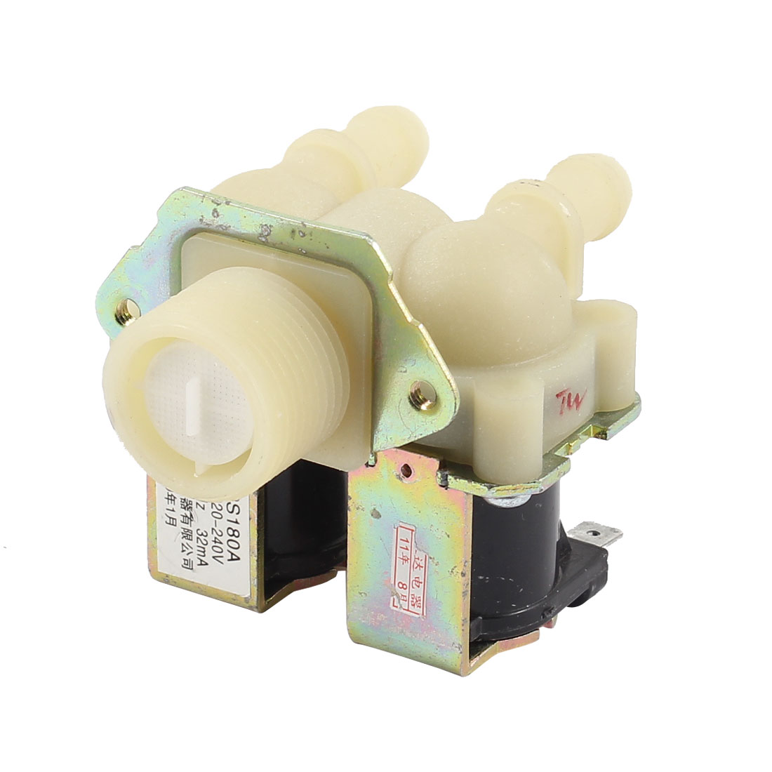 AC220-240V Dual Head Water Inlet Solenoid Valve for Roller Washing Machine