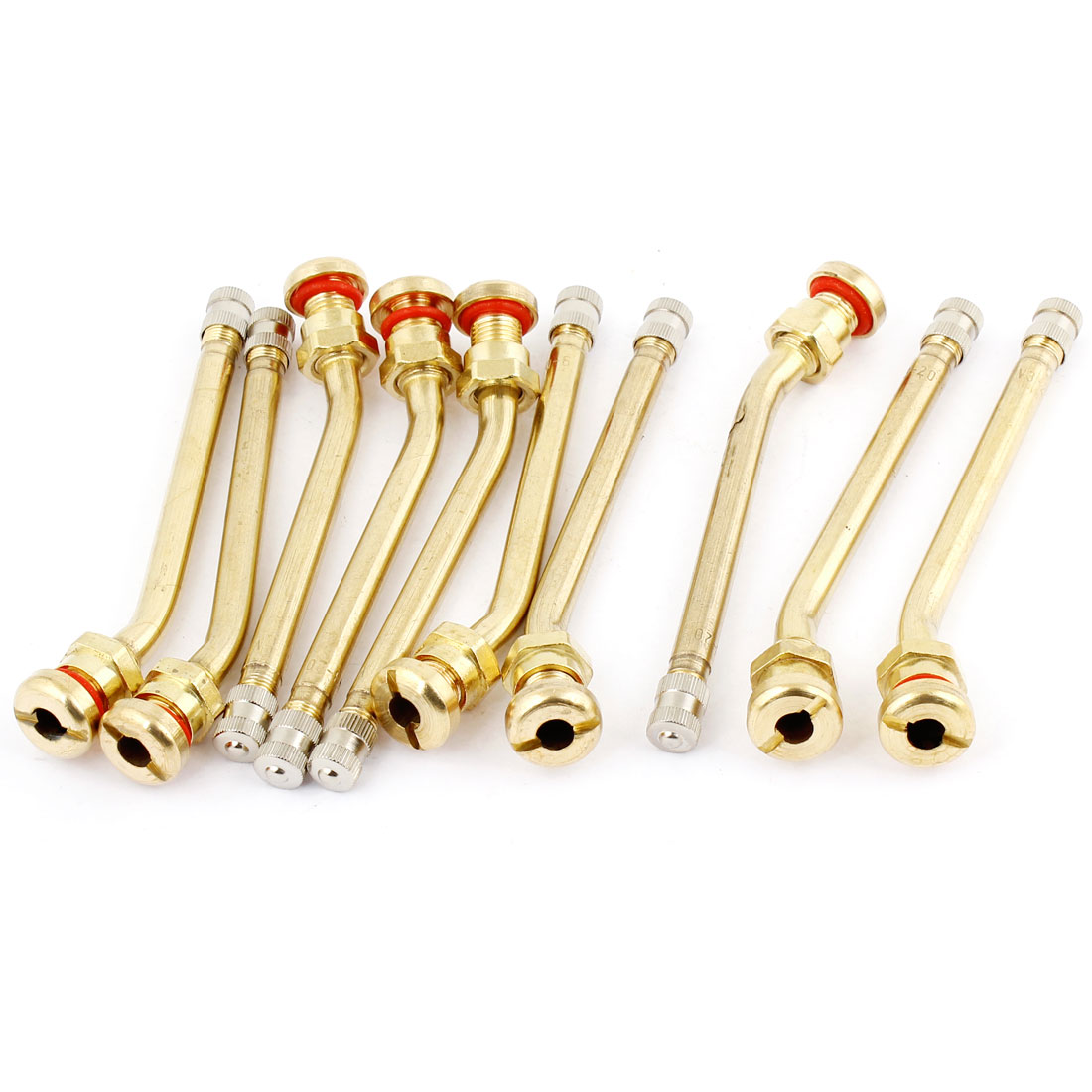 Car Truck Tire Pressure Monitoring Sensor Valve Stem Gold Tone 10 Pcs