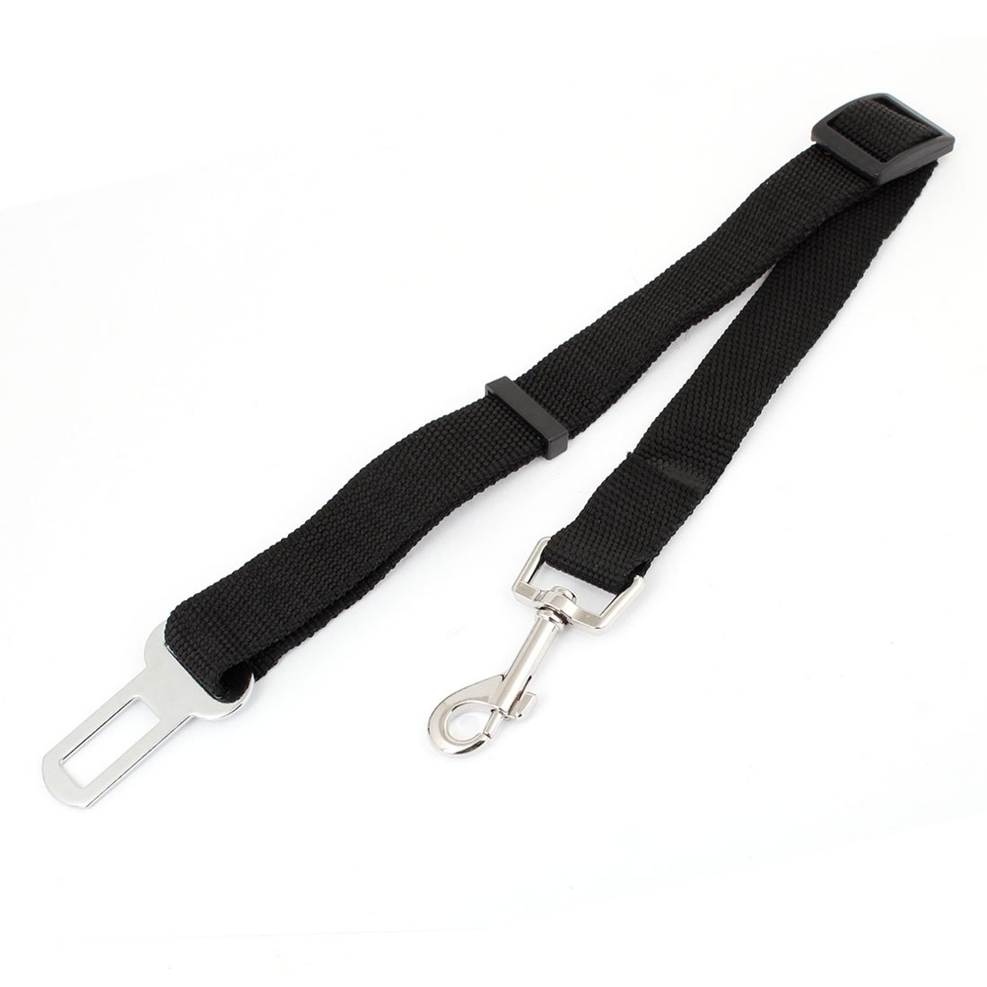 Black Lobster Clasp 2.5cm Width Pet Seatbelt Dog Safety Belt
