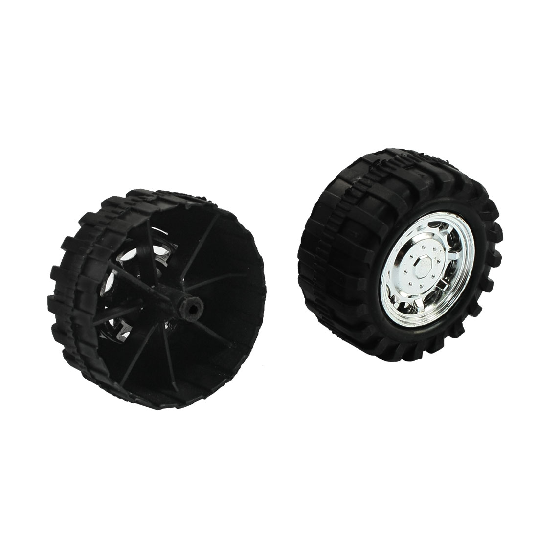 2pcs 55mm Dia Roll Plastic Core Toy Vehicles Car Wheels for Child