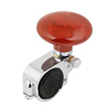 "Car Brown 2.2"" Dia Round Power Handle Steering Wheel Suicide Spinner Knob"