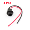 4pcs T10 Light Instrument Bulb Socket Extension Connector Wire Harness for Car