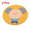 Cartoon Koala Design Silicone Antislip Heat Resistant Cup Mat Pad Yellow 2 Pcs