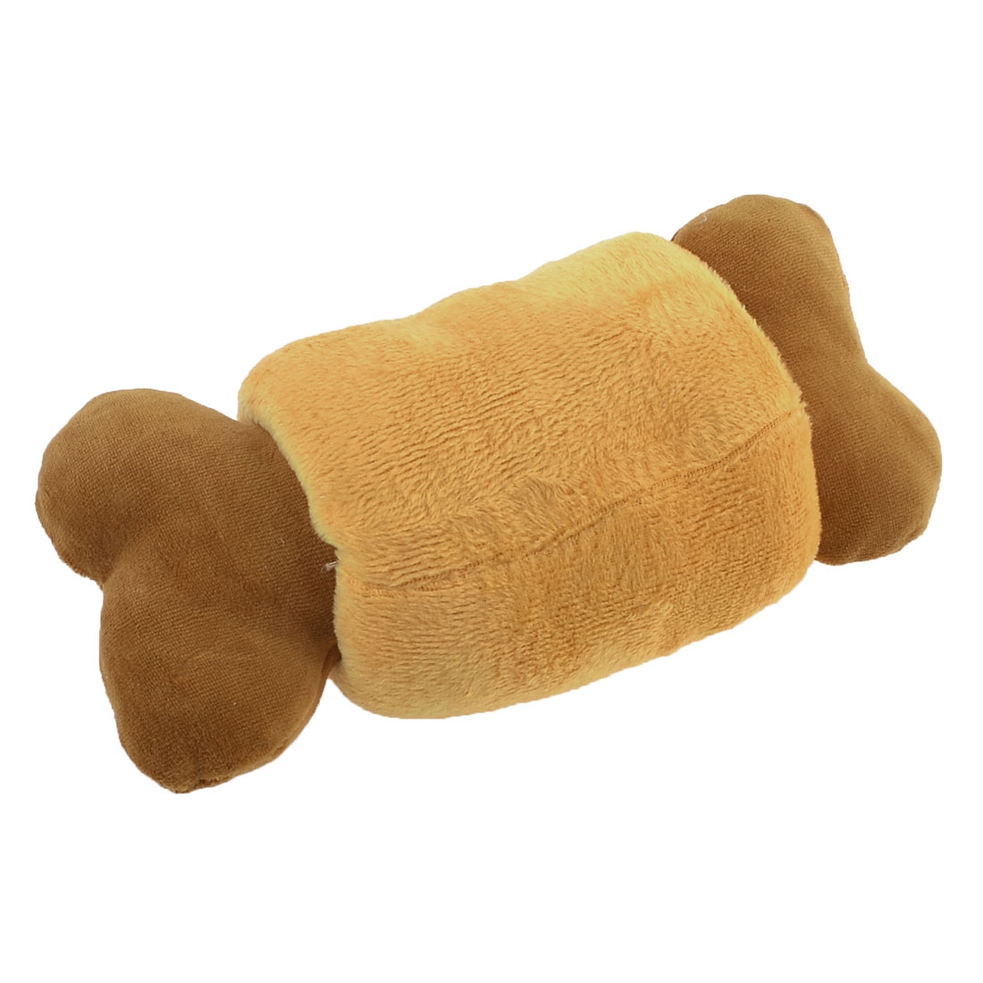 Brown Bone Shaped Pet Dog Puppy Play Chew Squeaking Toy