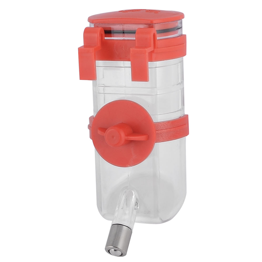 Pet Dog Cat Doggy Red Clear Hanging Water Drinking Bottle Water Feeder