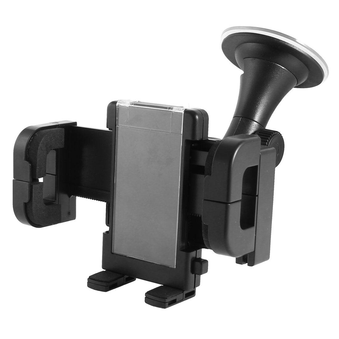 Black Suction Base Windshield Car Mount Cradle Holder for Cell Phone GPS