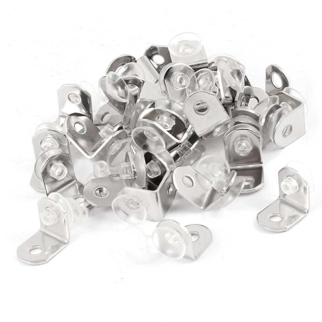 Suction Cup Base Right Angle Shelf Bracket Glass Shelve Support 40 Pcs