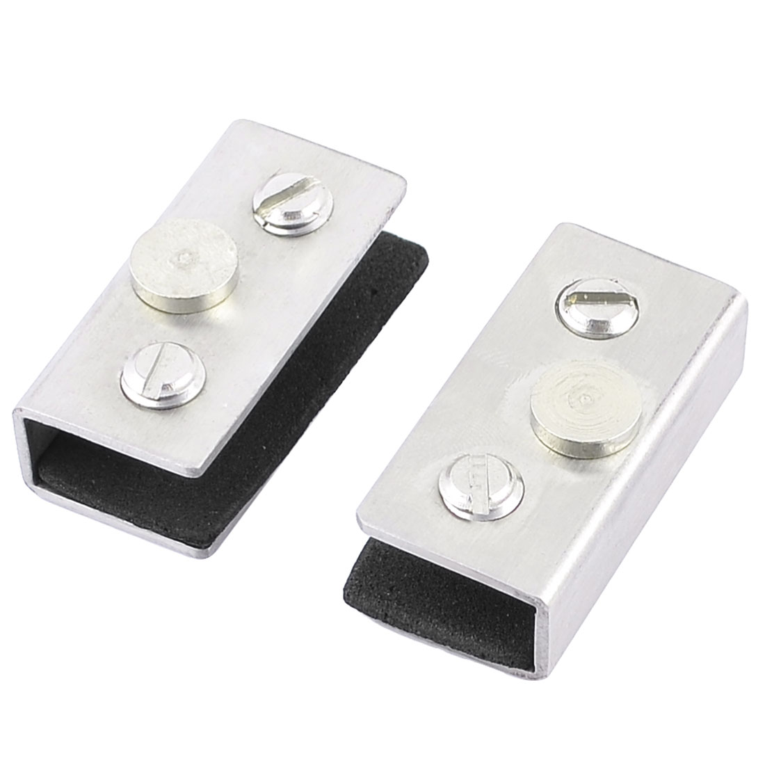 2 Pcs Adjustable Screw Rectangle Clip Clamp Holder for 6-10mm Thick Glass