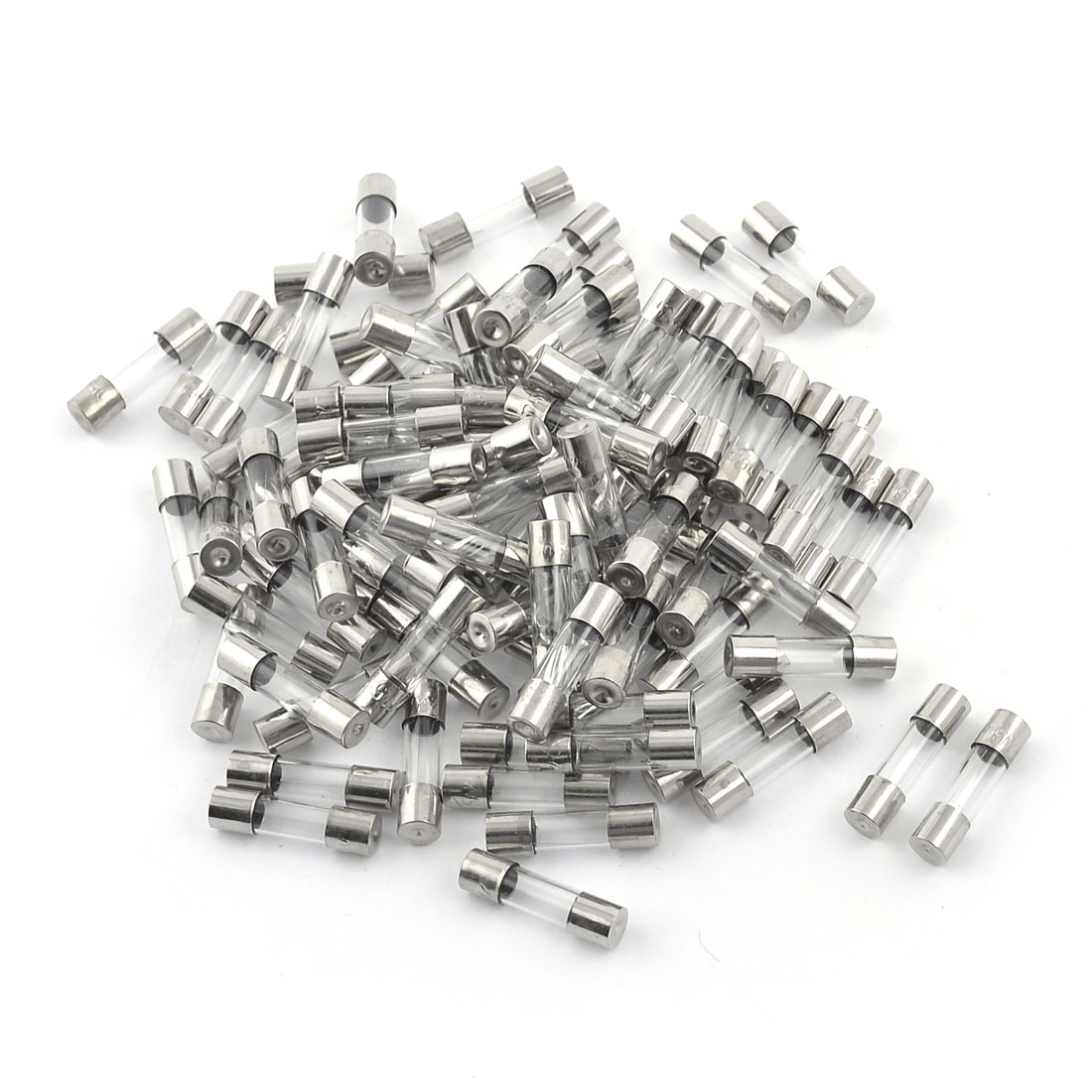 100 Pcs 250V 3A 5mm x 20mm Fast Blow Type Quick Glass Tube Fuses