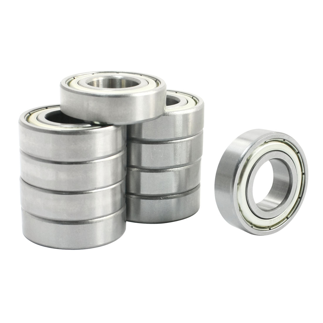 10Pcs 6003Z Single Row Shielded Deep Groove Ball Bearings 17mm x 35mm x 10mm