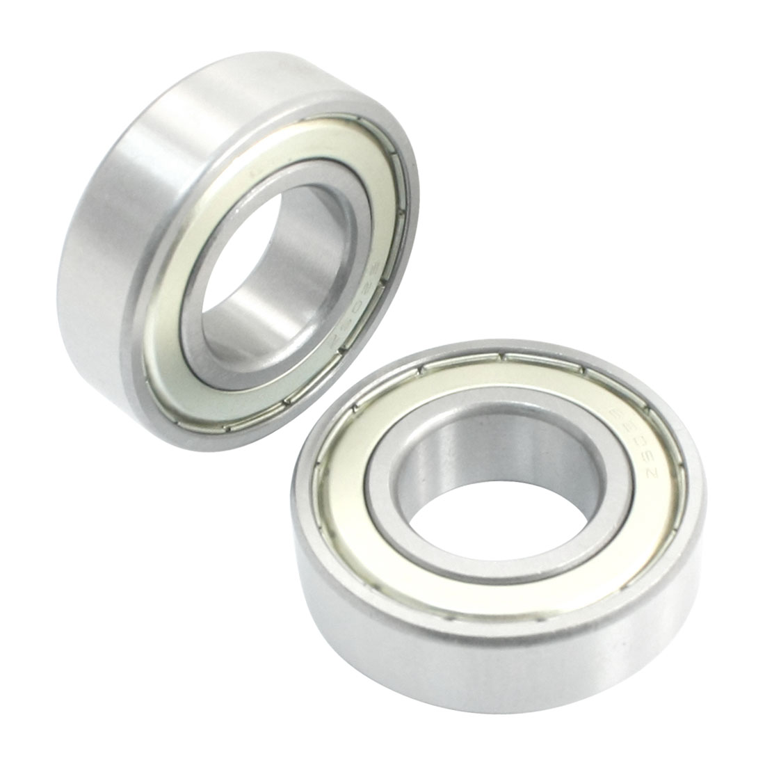 2 Pcs 6205ZZ 25mm x 52mm x 15mm Double Metal Shielded Deep Groove Ball Bearings