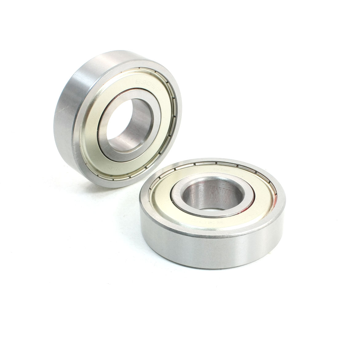 2 Pcs 25 x 62 x 17mm Single Row Deep Groove Ball Bearings 6305Z