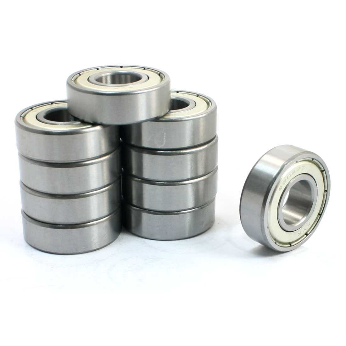 10 Pcs 6202ZZ 15 x 35 x 11mm Single Row Shielded Deep Groove Ball Bearings