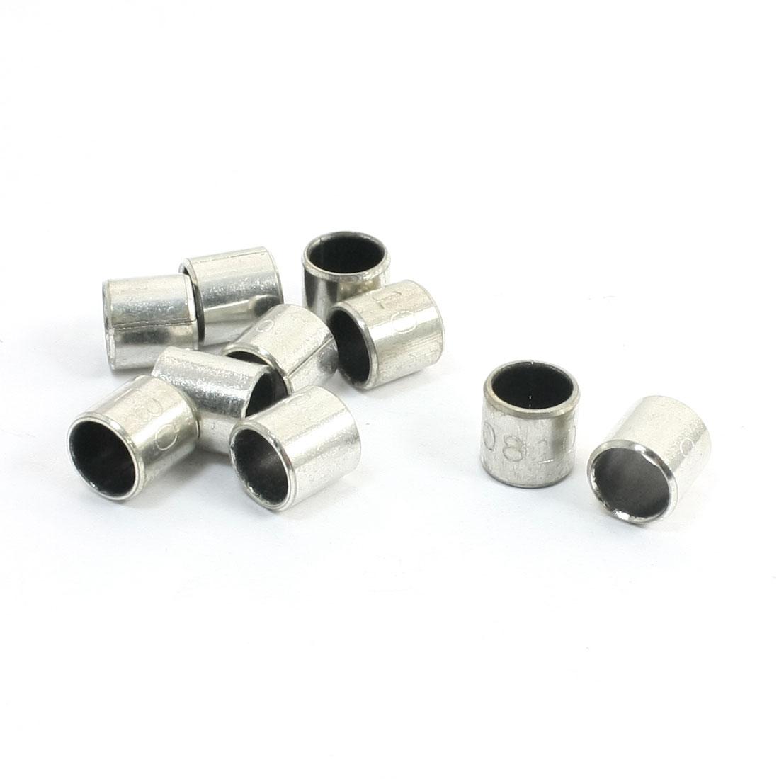 10 Pcs Self-lubricating Composite Bearing Bushing Sleeve 8mm x 10mm x 10mm