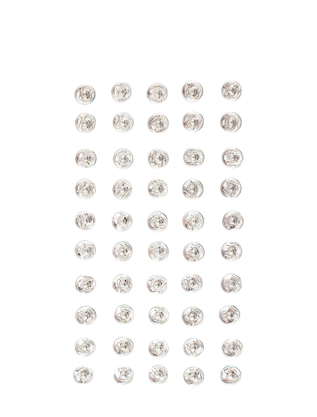 50 Pcs Silver Tone Metal Clothes Repair Snap Press Fastener Buttons