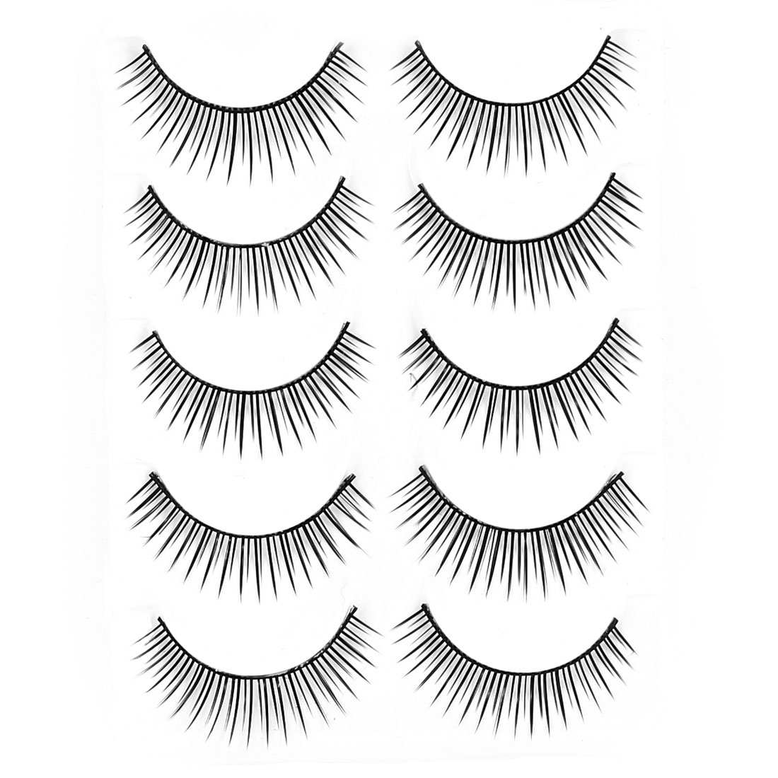5 Pairs Black Long Short False Eyelashes Cosmetic Replacement for Lady