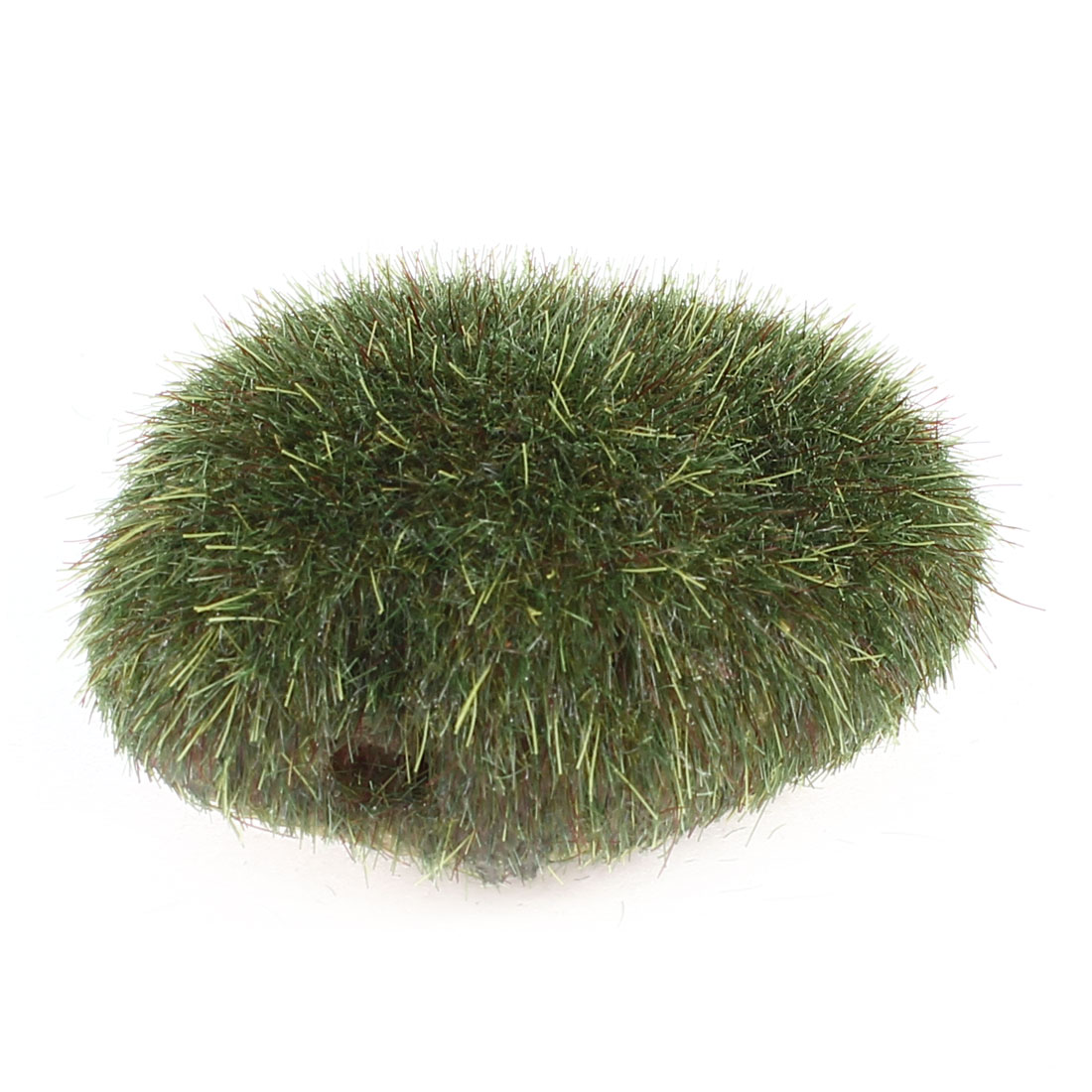 Brown Artificial Moss Stone Rocks Balls Cobbles Grass Plant Aquarium Decor