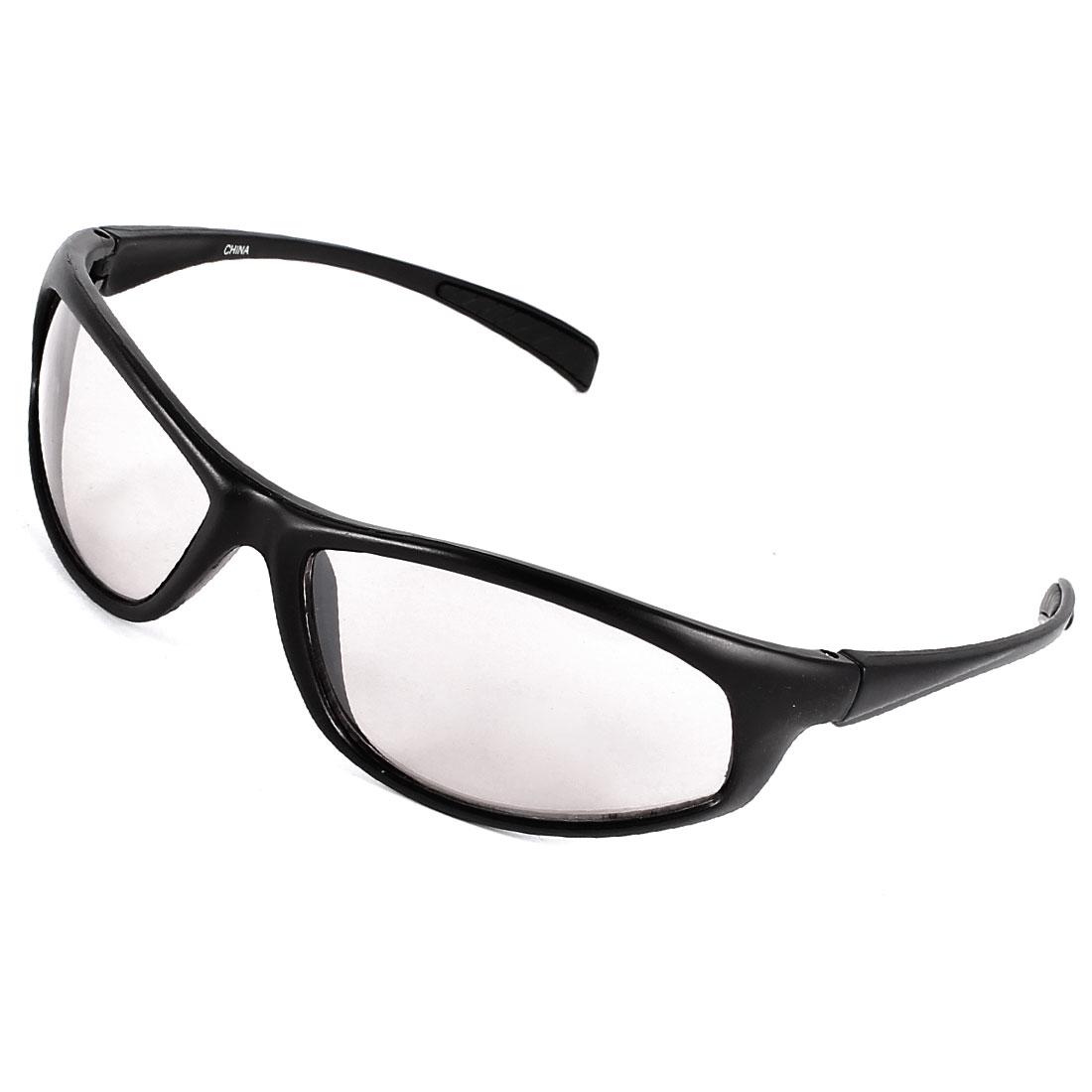 Black Plastic Full Frame Colored Lens Sunglasses Eyewear Glasses for Men