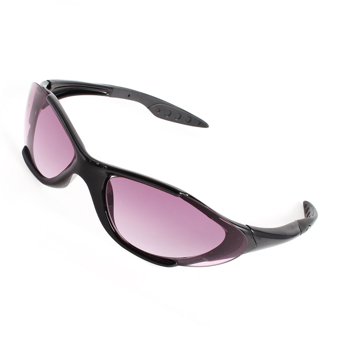 Black Plastic Full Frame Purple Lens Sunglasses Glasses for Ladies