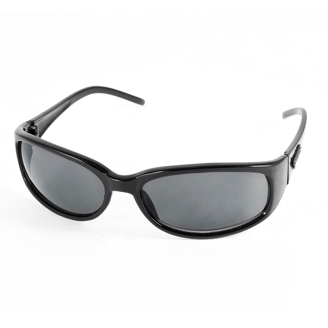 Black Plastic Full Rimmed Tinted Lens Sunglasses Glasses for Men