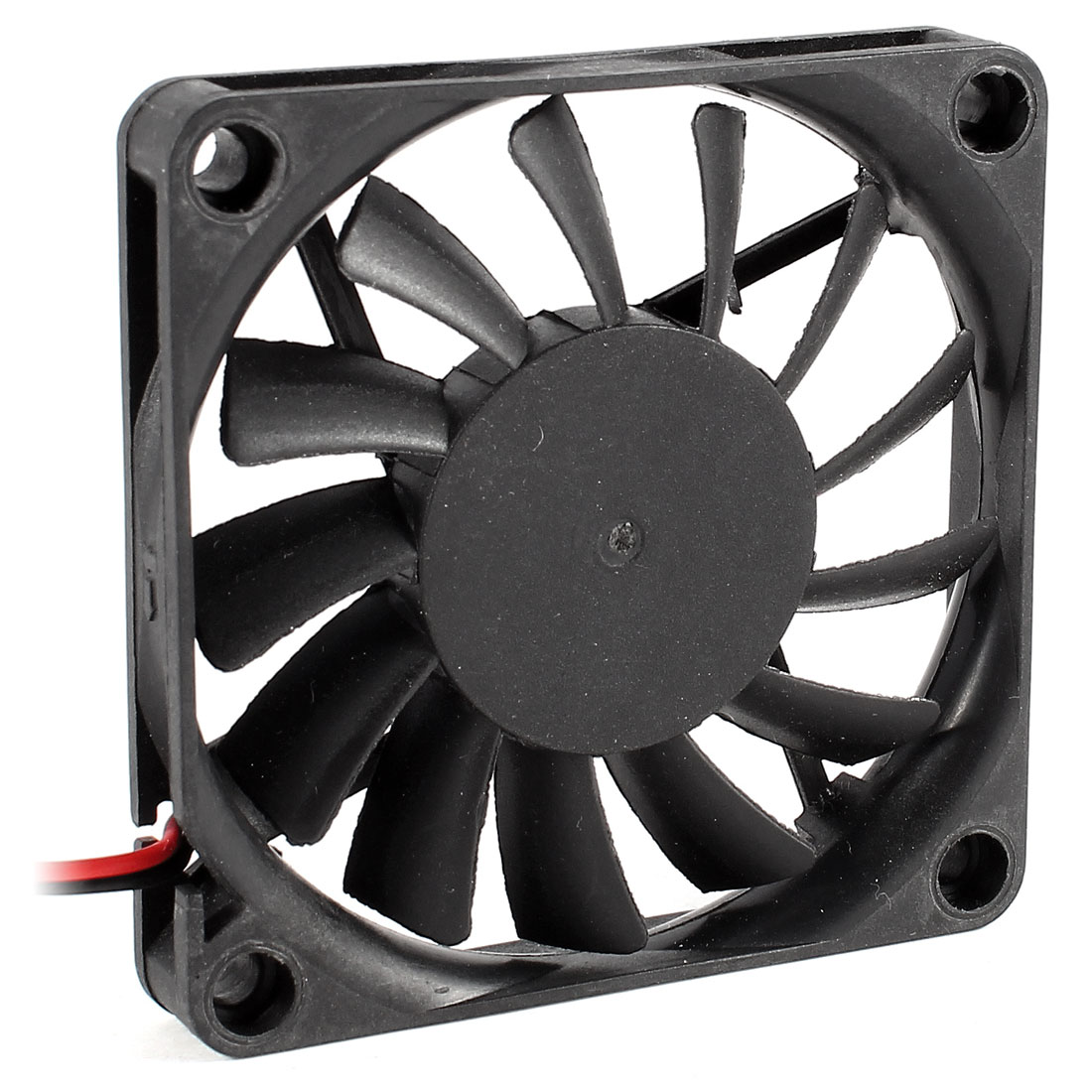 70mm Connector Cooling Fan Black for Computer Cases CPU Coolers