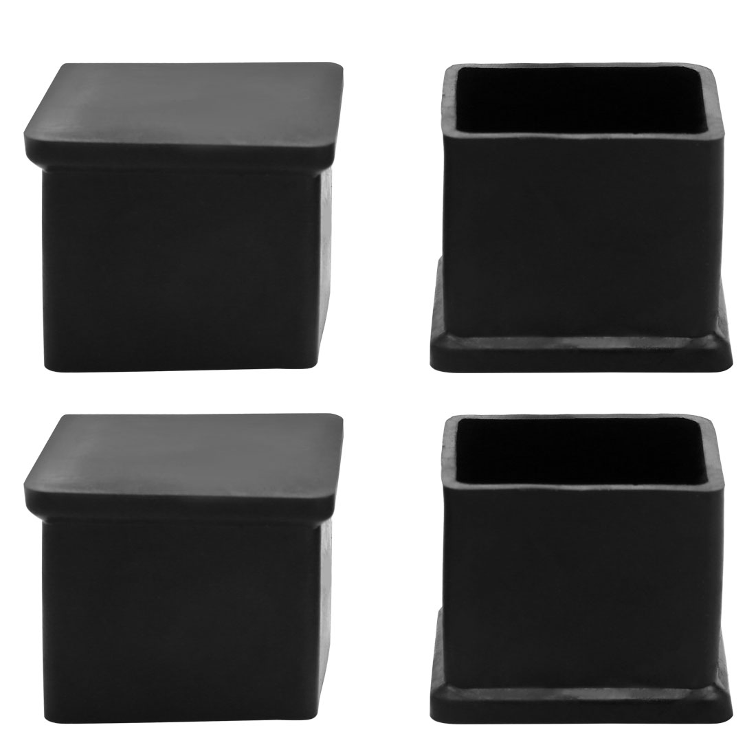 4 Pcs 25mm x 25mm Nonslip Table Furniture Foot Covers Black