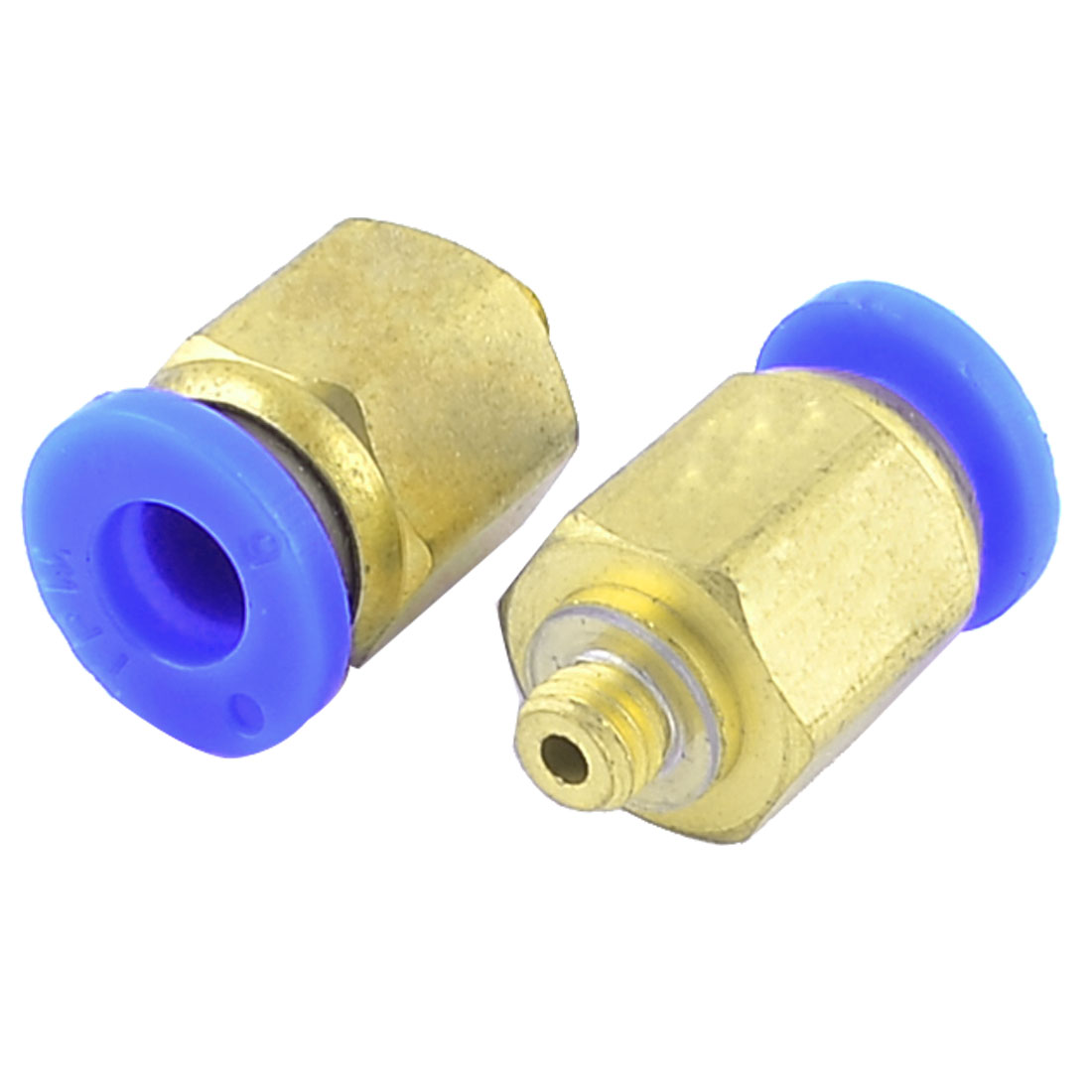 6mm x 5mm Threaded Pneumatic Straight Quick Joint Connector Coupler 2pcs