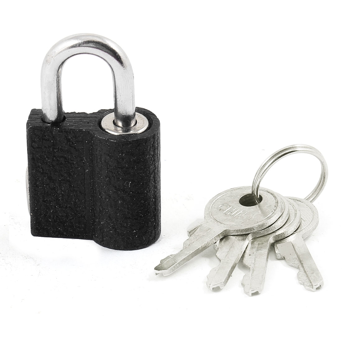 "Home Door Cabinet Black Security Lock Padlock 1.7"" Long w 4 Keys"