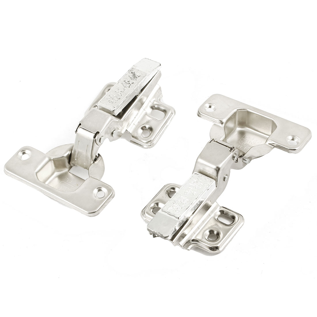 2 Pcs Stainless Steel Concealed Cabinet Cupboard Door Sliding Hinges 3.7""